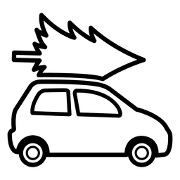 Pine tree on car icon