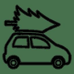 Pinheiro no ícone do carro