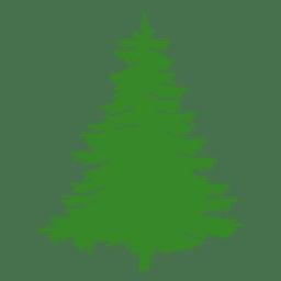 silueta del árbol de pino