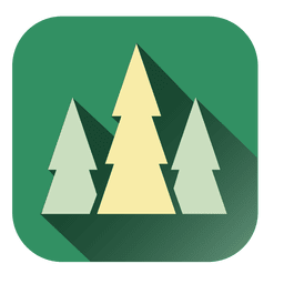 Pine trees square icon