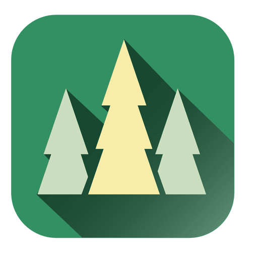 Pine trees square icon