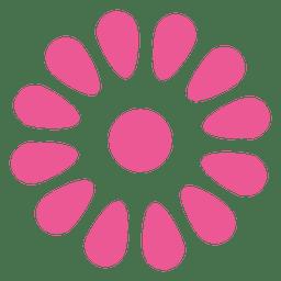 Icono floral rosa