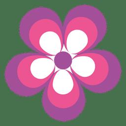Icono de flor rosa púrpura