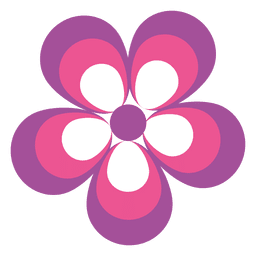 Pink purple flower icon