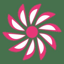 Icono de flor estrellada rosa