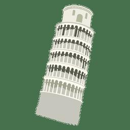 Dibujos animados de la torre de pisa