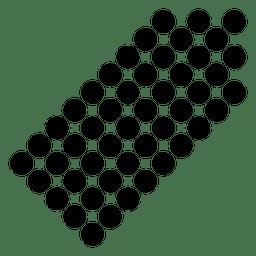 Seta de canto direito pixelada