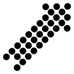 Seta de canto direito pixelada 1