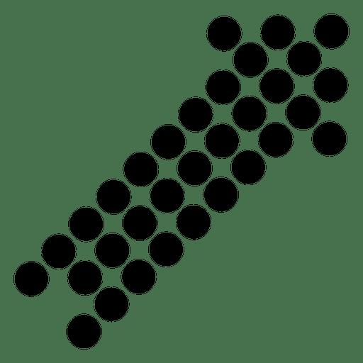 Pixilated right corner arrow 1 Transparent PNG