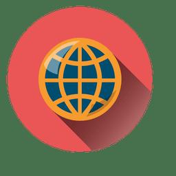 Planet round icon