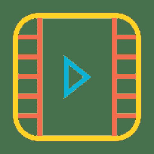 Reproducir el icono de transmisión de video musical
