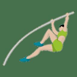 Pole salto deporte de dibujos animados