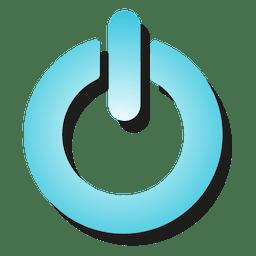 Ícone de botão de energia de gradiente