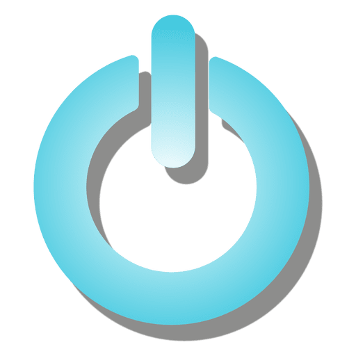 Icono de botón de encendido degradado