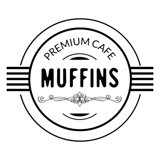 Etiqueta de muffins de cafe premium Transparent PNG