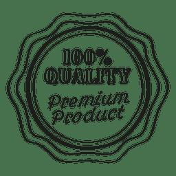Emblema redondo producto premium
