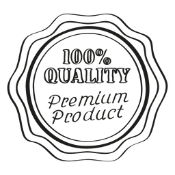 Premium product round emblem