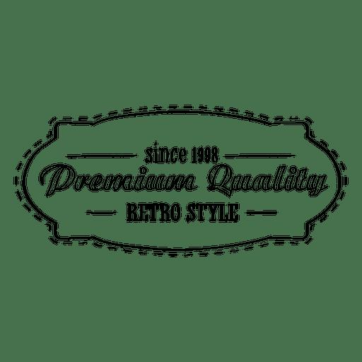 Erstklassiges Retro-Siegel Transparent PNG