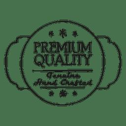Sello redondo de calidad premium