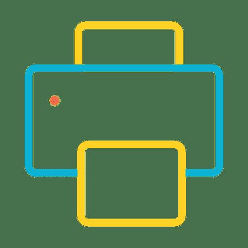 Ícone Básico de Impressão Transparent PNG