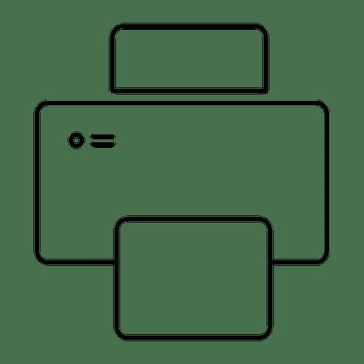 Print printer stroke icon