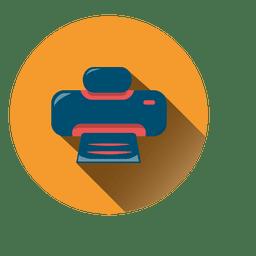 Ícone de círculo de impressora