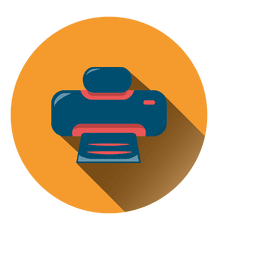 Icono de círculo de impresora