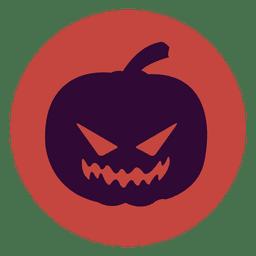 Icono de círculo de calabaza