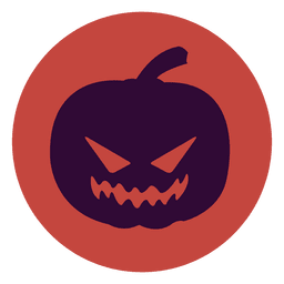 Pumpkin circle icon
