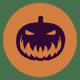 Pumpkin face circle icon