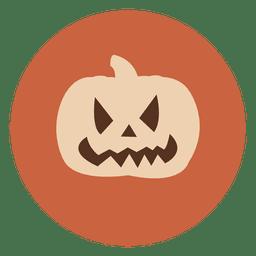 Pumpkin face circle icon 1