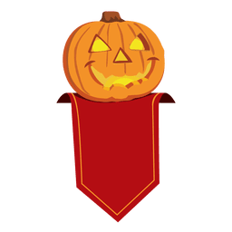 Distintivo de abóbora de halloween