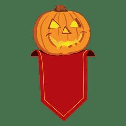 Insignia de calabaza de halloween