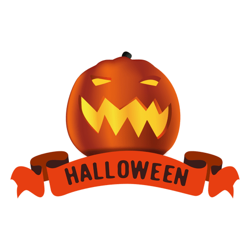 Pumpkin halloween ribbon Transparent PNG