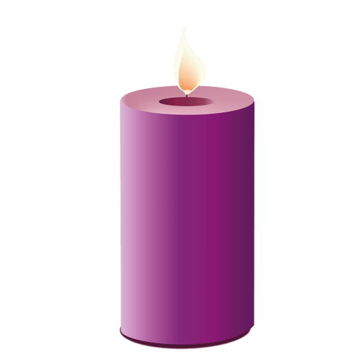 Purple candle light Transparent PNG