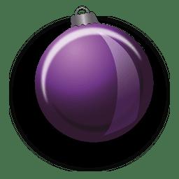 Purple christmas bauble