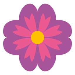 ícone floral roxo