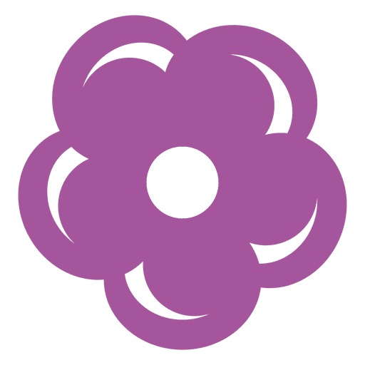 Purple flower icon Transparent PNG