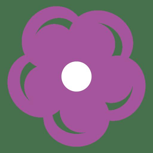 Purple flower icon