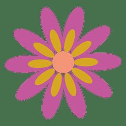 Lila Blüte Symbol 5