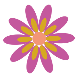 Purple flower icon 5