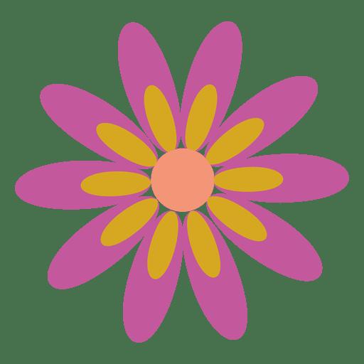 Purple flower icon 5