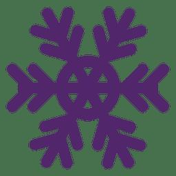 Copo de nieve púrpura