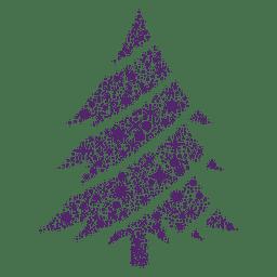 Árbol de navidad púrpura starfkales