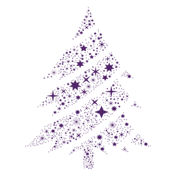 Purple starfkales christmas tree