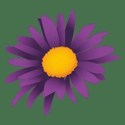 Dibujos animados de girasol púrpura