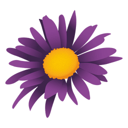 Purple sunflower cartoon