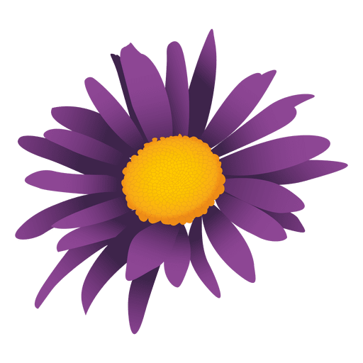 Lila Sonnenblume Cartoon Transparent PNG