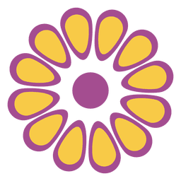 Purple yellow floral icon