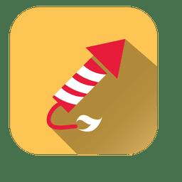ícone quadrado de pirotecnia